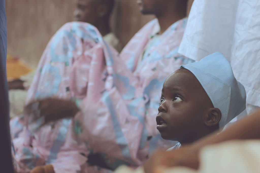 Child at Ceremony, Ikorodu, Nigeria, 2016 (Oshomah Abubakar)