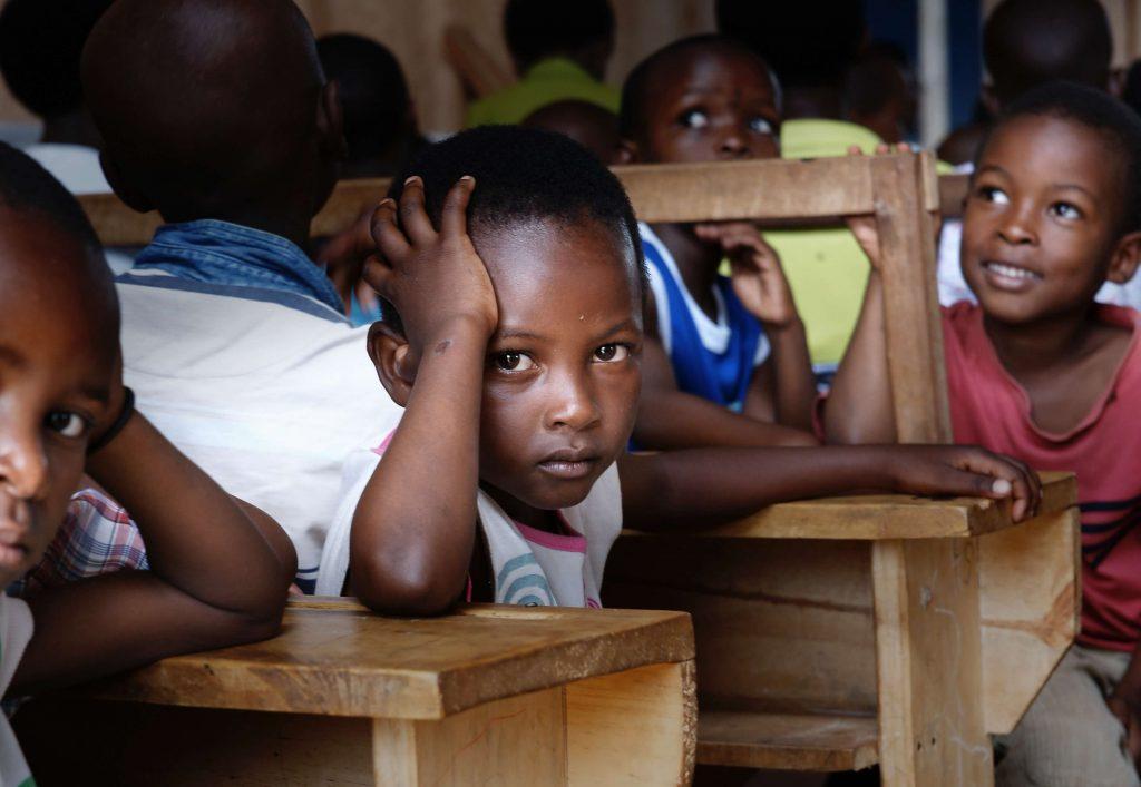 Children in Classroom, Nakasaki District, Kampala, Uganda, 2017 (Bill Wegener)
